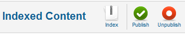Joomla Index content button